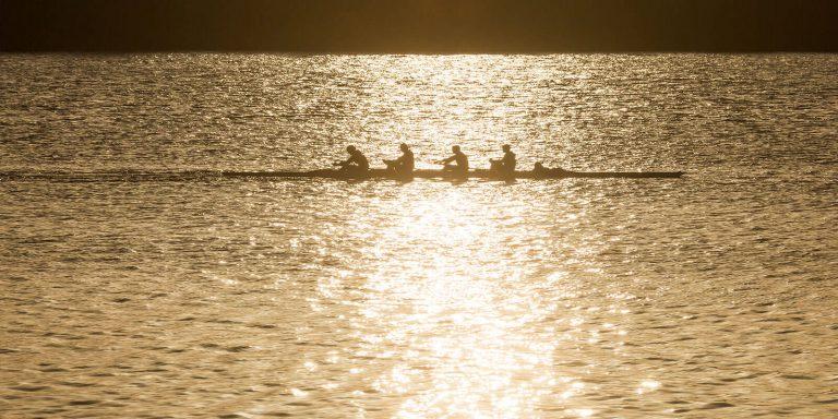Lake Rowing at Dawn